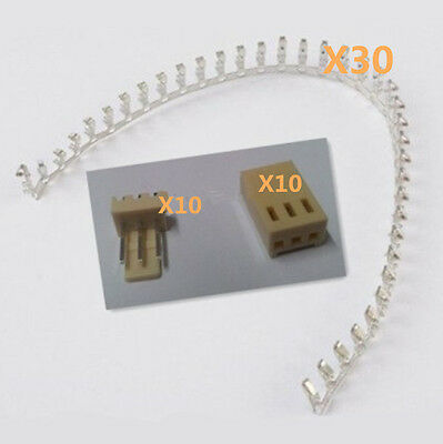 30pcs Kf2510-3p 2.54mm Pin Header 10terminal 10housing Connector Kits
