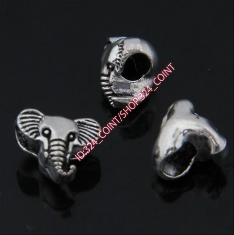 P1391 12pc Retro Tibetan Silver Charm elephant Spacer Beads Jewellery Making