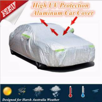 Waterproof Aluminum Car Cover High UV Protection Zip Entry Safety