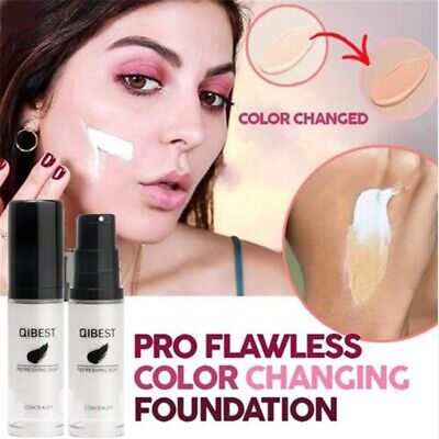 Color Changing Liquid Foundation Makeup Change To Your Skin Tone By Blending