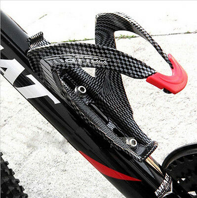 OFF-Road Mountain Bike bicycle Cycling Carbon fiber Water Bottles Holder Cage QH