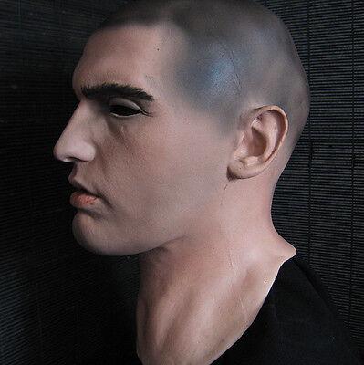 Latexmaske DOMINIC - Realistische Männermaske Mann Gummi männliches Gesicht Latex Gesichtsmaske