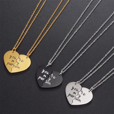 Free Shipping Grey's Anatomy quote: you're my person necklaces set