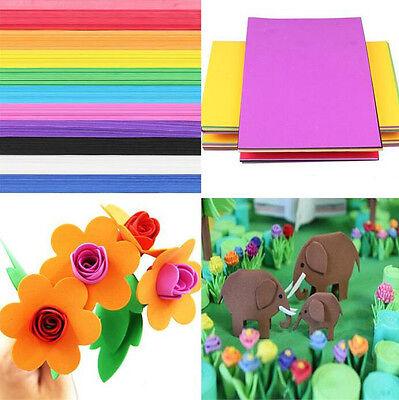 10x EVA Foam Sheets A4 Handmade Paper DIY Fun Funky Kids Craft Gift - Fun Foam Sheets