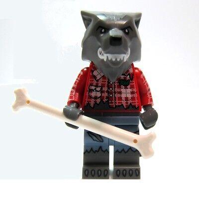 LEGO Sealed Series 14 Wolf Werewolf Monster Howl Bone Halloween 71010 Minifigure ()