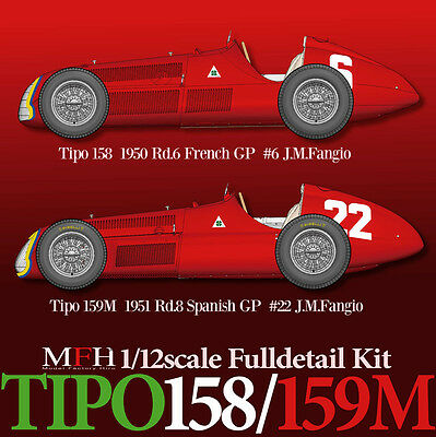 Model Factory HIRO 1/12 Full Detail Kit NEW Alfa Romeo TIPO 159M