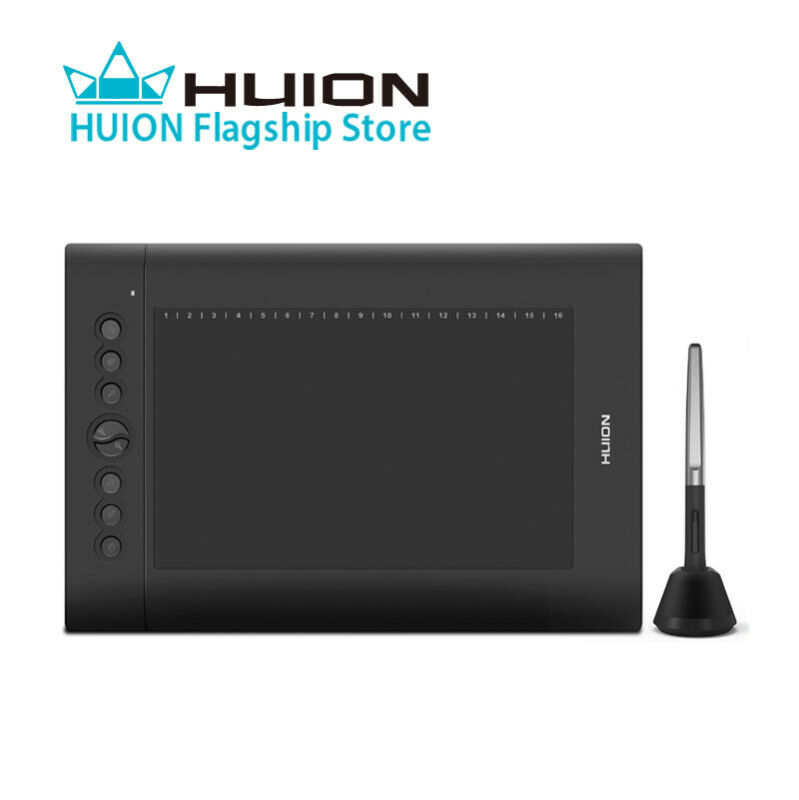 Huion H610 PRO V2 Graphics Tablet Board 10x6.25 Painting Drawing Pen Tablet 8192