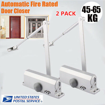 2x Aluminum Commercial Door Closer Two Independent Valves Control Sweep 45-65kg