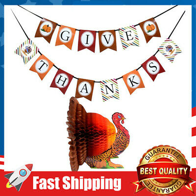 Thanksgiving Day Turkey Banner kit Decorations Thanks Giving Party Supplies