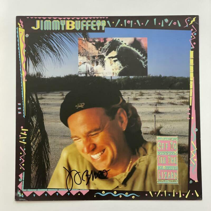 JIMMY BUFFETT SIGNED AUTOGRAPH ALBUM FLAT - OFF TO SEE THE LIZARD RARE! BAS JSA