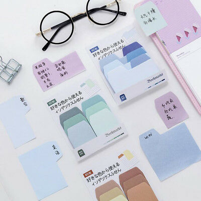 Eur Style Stationery Memo Sticky Notes Bookmark Adhesive Sticker Pads Marker Tab