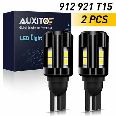 2x AUXITO 921 912 T15 Super White LED Backup Reverse Light Bulbs W16W 2000LM 10K