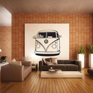 VW Camper Van Wall Decal Sticker Vinyl Decor Mural Bedroom Kitchen Art