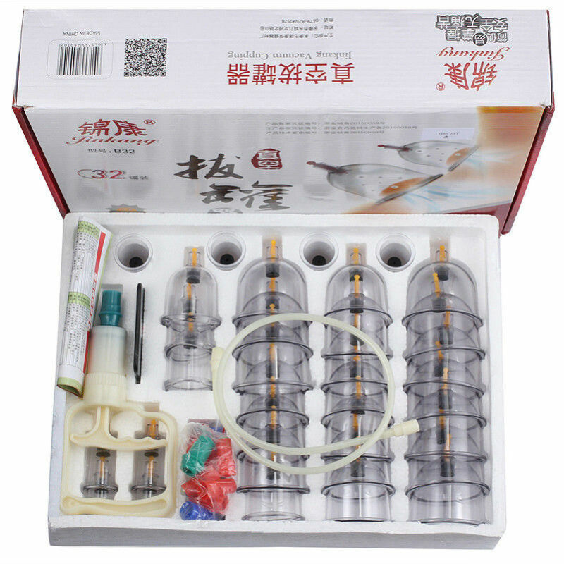 32 Cups/set Chinese Vacuum Cupping Body Massage Therapy Healthy Suction Medicals