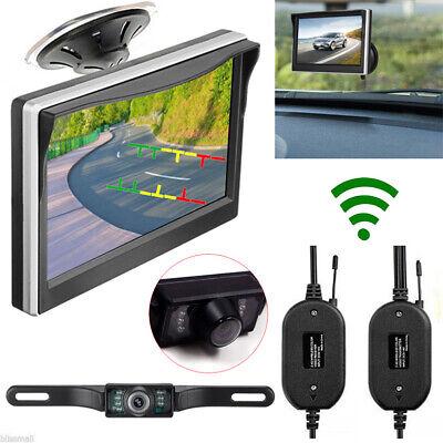 """5"""" TFT LCD Car Rear View Backup Monitor+Wireless Parking Night Vision Camera Kit comprar usado  Enviando para Brazil"""