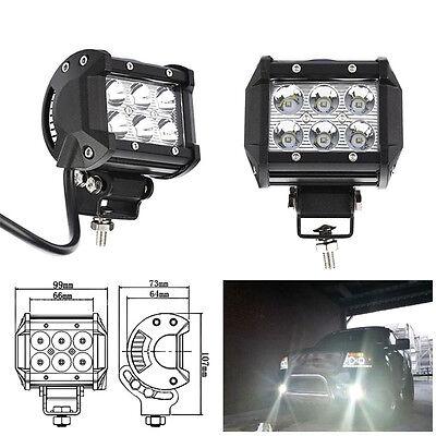 18W Car 12V LED Work Spot Lights Spotlight Lamp 4x4 Van ATV Offroad SUV Truck