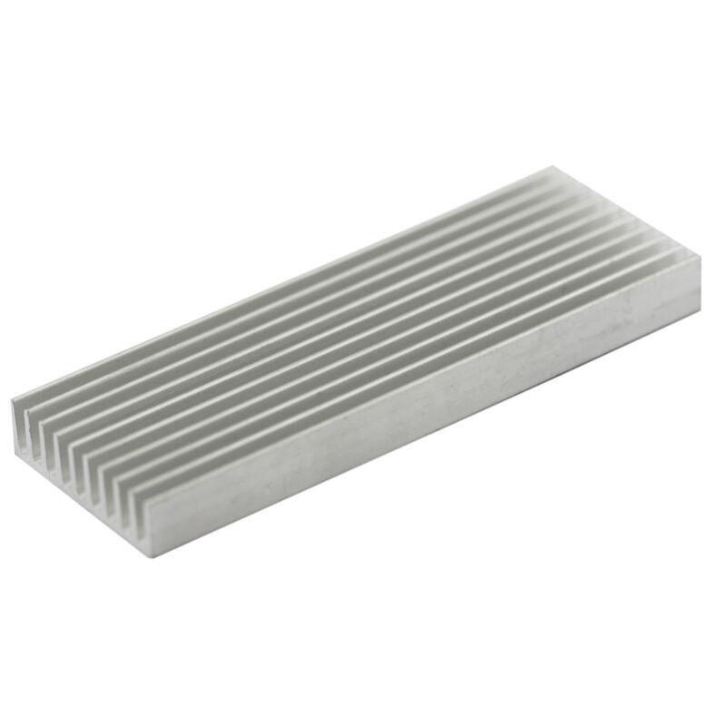 1pcs Aluminum Heatsink Heat Sink Thermal Pad Transfer Blades Silver 100x35x10mm