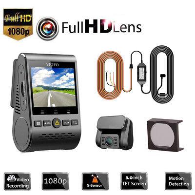 Original HD Viofo A129 Duo Dual Lens Wi-Fi Car Dash Cam Parking +Hard Wire +CPL