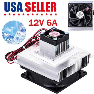 12v 6a Thermoelectric Peltier Refrigeration Cooling System Kit Cooler Fan Diy Om