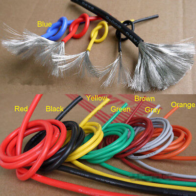 5 Meters 2830242622 Awg Flexible Silicone Wire Super Soft Rc Cable Ul