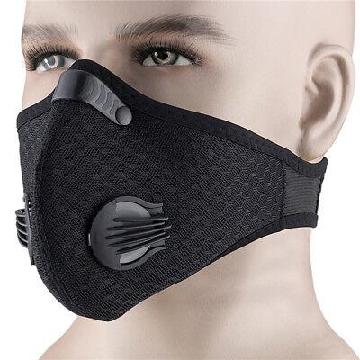 Dust Proof Half Face Black Respirator Mask Filtered Activated Carbon Filtration