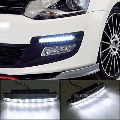 2X 6 LED Daytime Running Light DRL Fog Lamp Day Lights Daylight 12V For All Car