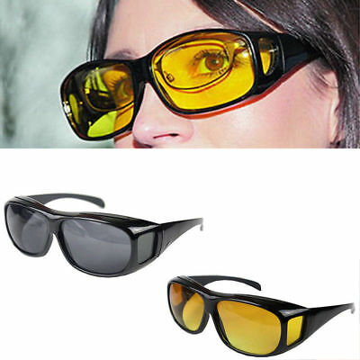HD Night Vision Cycling Riding Driving Glasses Sports Sunglasses Earwear MN