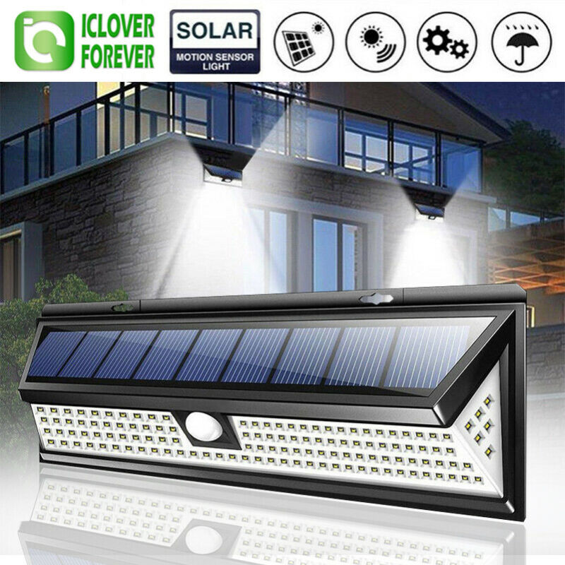 118 LED Solar Lamp Outdoor Garden Yard Waterproof PIR Motion Sensor Wall Light