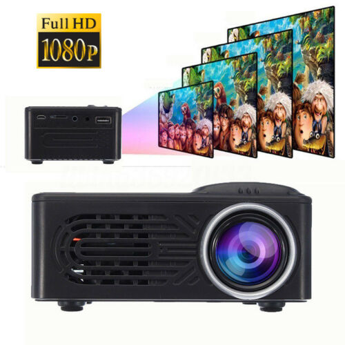 3D Full HD Mini Projector LED Multimedia Home Theater USB Pr