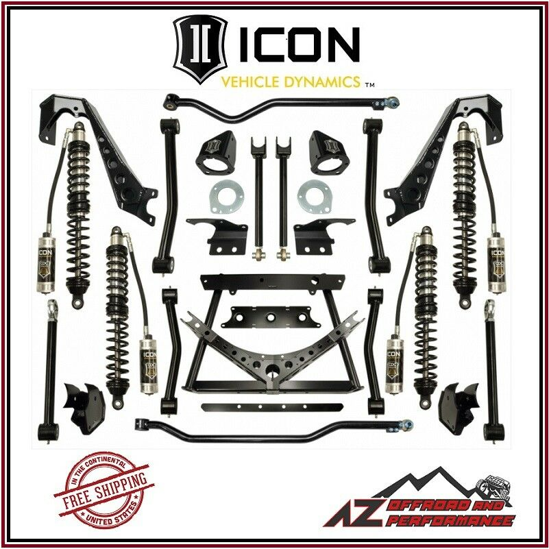 """ICON 1.75-4"""" Stage 2 Coilover Conversion System 07-18 Jeep Wrangler JK"""