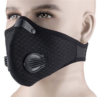 1pcs Dust Proof Half Face Respirator Mask Filtered Activated Carbon Filtration