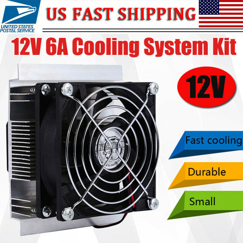 12V 60W Fridge / Refrigeration Fast Cooling System DIY Kit Mini Air Conditioner