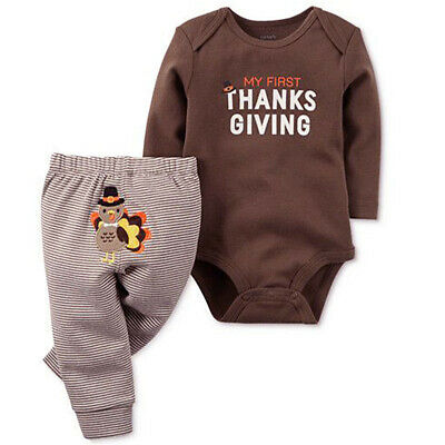 Kids Thanksgiving (Toddler Kids Thanksgiving Day Baby Boy Girl Clothes Top Romper+Pants Outfit)