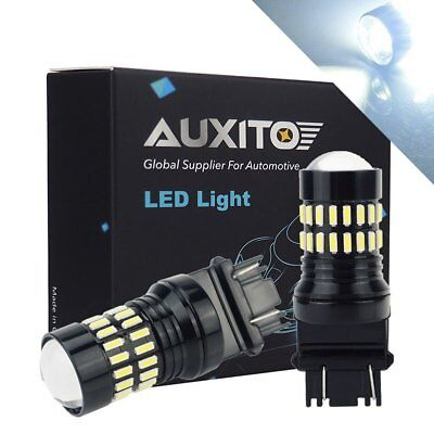 2pc 3157 4114 4157 LED DRL Driving Daytime Running Light Bulbs 48SMD 6000K White](Led Running)