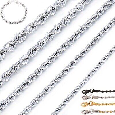 Kordelkette Armband Edelstahl Silber Gold Schwarz für Anhänger Halskette Unisex Halsketten
