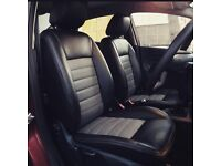 LEATHER CAR SEAT COVERS TOYOTA PRIUS FORD GALAXY VOLKSWAGE SHARAN SHARON VW ALL DESIGNS COLOURS