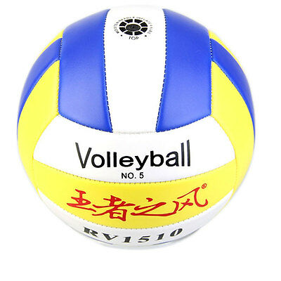 Hot Good Student Volleyball Faux Leather Match Training Ball ZYickened Size5 ZY