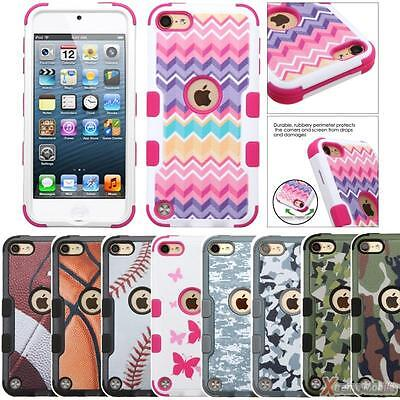 Matte Image Tuff Hybrid Protect Case Cover For Apple Ipod Touch  6Th 5Th Gen