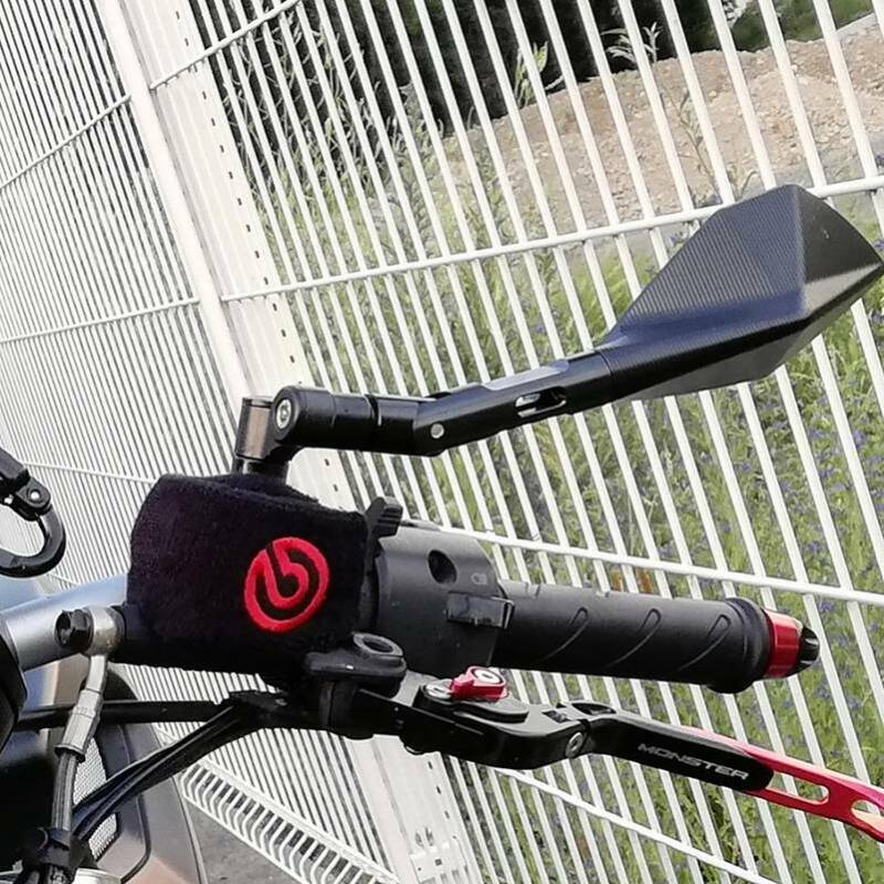 Handlebar Motorcycle Mountain Bike Bicycle Side Rear View Rearview Mirror  Hg