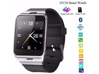 GV18 smart watch (can be linked with your smart phone)(sim card/ sd card)(water resistant