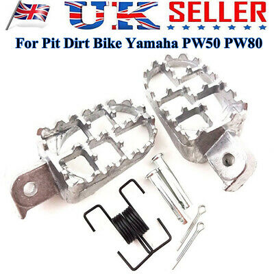 BLACK FOOT PEGS FOOTPEGS FOOTREST FOR <em>YAMAHA</em> PW50 PW80 PIT DIRT SILVER
