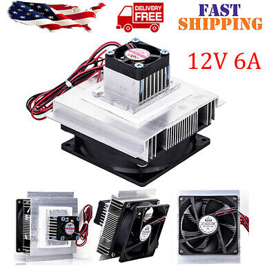 Thermoelectric Peltier Refrigeration Cooler Fan Cooling System Kit 12v 6a Useful