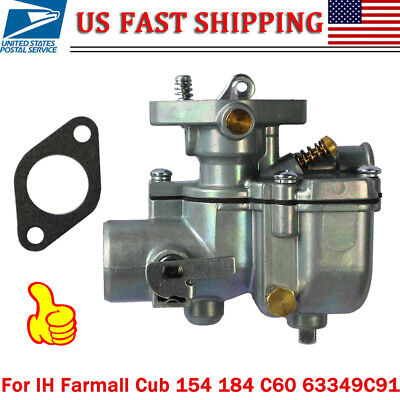 New Carburetor For Ih Farmall Cub 154 184 185 C60 63349c91 251234r94 364579r91