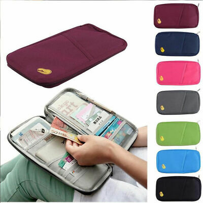 Travel Wallet Family Passport Holder Accessories Document Organizer Bag Case US