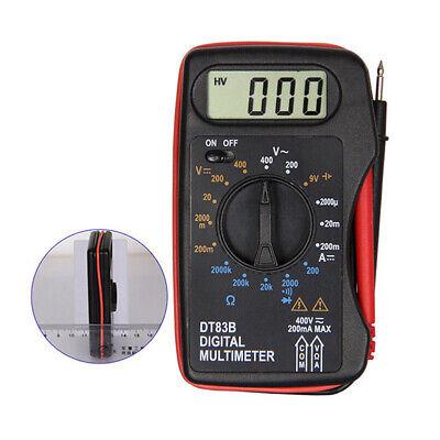 Digital Lcd Voltmeter Ammeter Ohmmeter Multimeter Volt Ohm Ac Dc Tester Meter