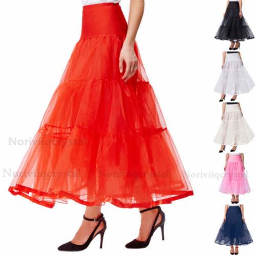 Frauen Lang Petticoat Tutu Kleid Hochzeit Party Reifröcke Kleidung ...