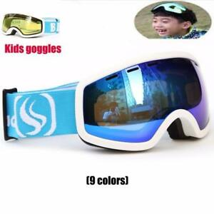 Kids Double Lens UV400 Anti-fog Ski Snow Glasses Child Skiing Mask Winter Girls Boys Eyewear free shipping