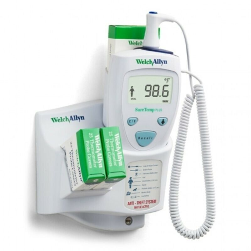 Welch Allyn 01690-300 SureTemp Plus 690 Electronic Thermometer, Wall Mount, 9