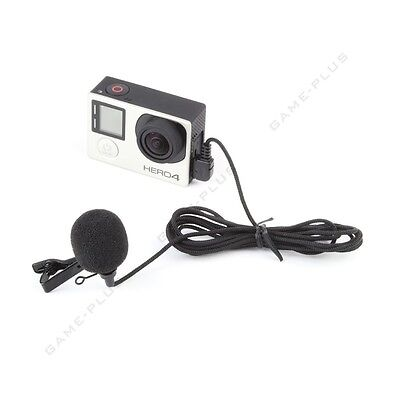 Professional Mini USB External Microphone with Collar Clip for GoPro Hero 3 3+ 4