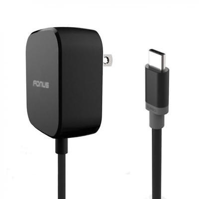 15W ADAPTIVE FAST HOME QUICK CHARGER 5FT LONG TYPE-C USB-C CABLE w TURBO CHARGE